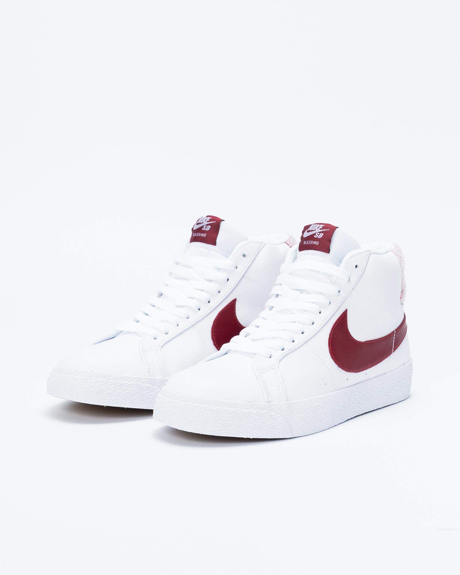 Nike SB Zoom Blazer Mid Premium White/Team Red