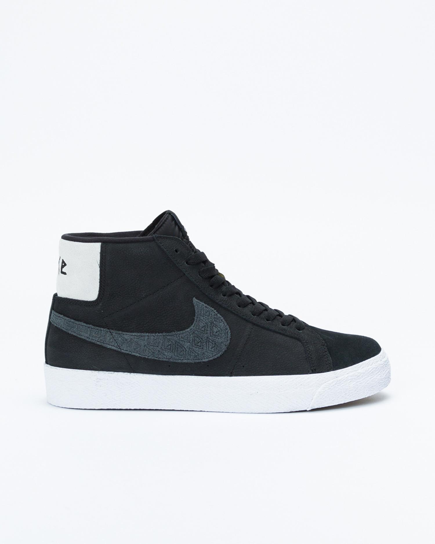 "Nike Zoom Blazer Mid QS ""Gnarhunters"" Black/black-white-white"