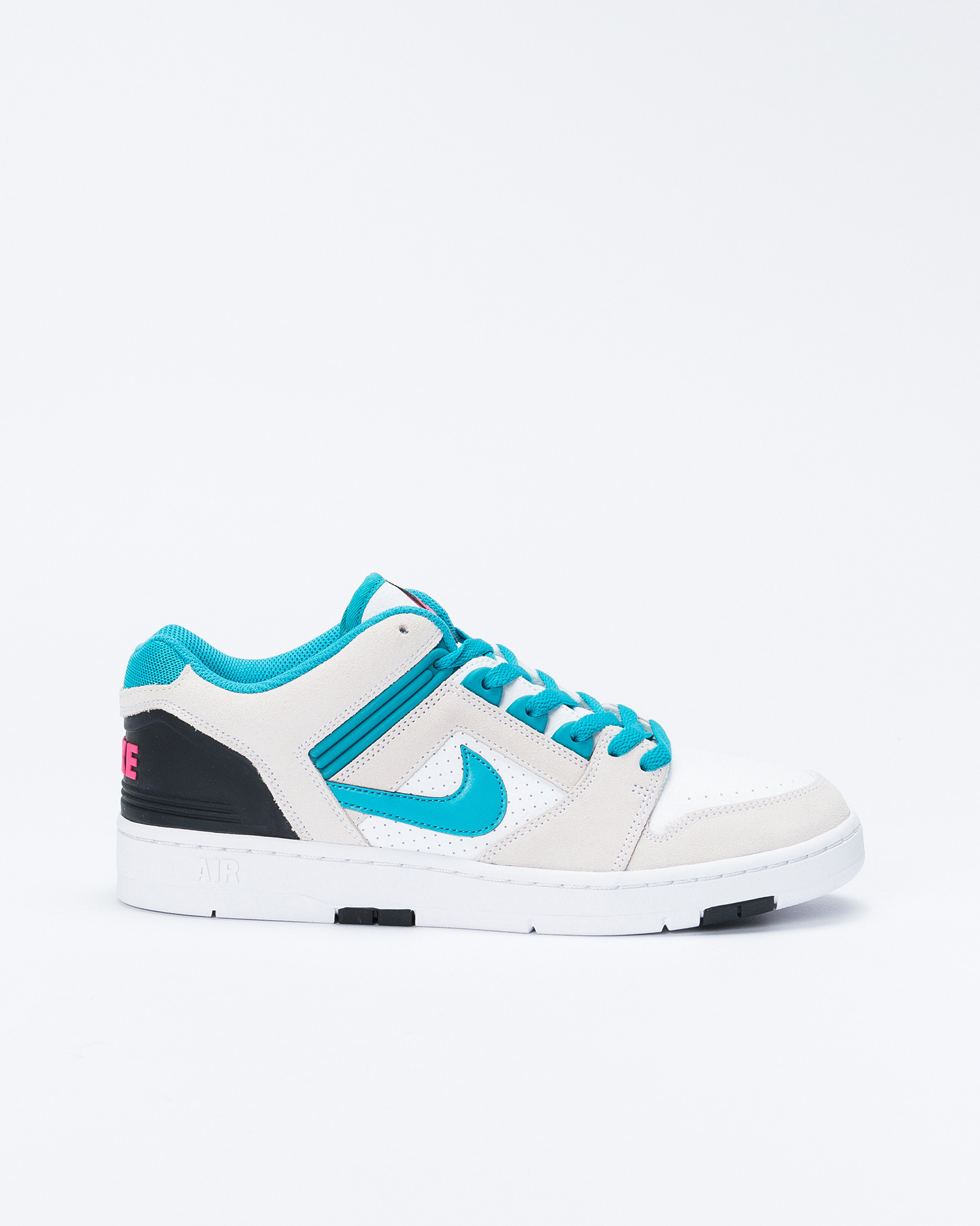 Nike SB Air Force II White/Teal Nebula/Black/Pink flash