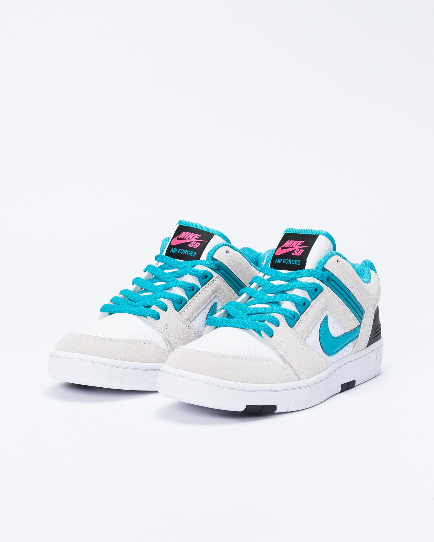 Nike Nike SB Air Force II WhiteTeal NebulaBlackPink flash
