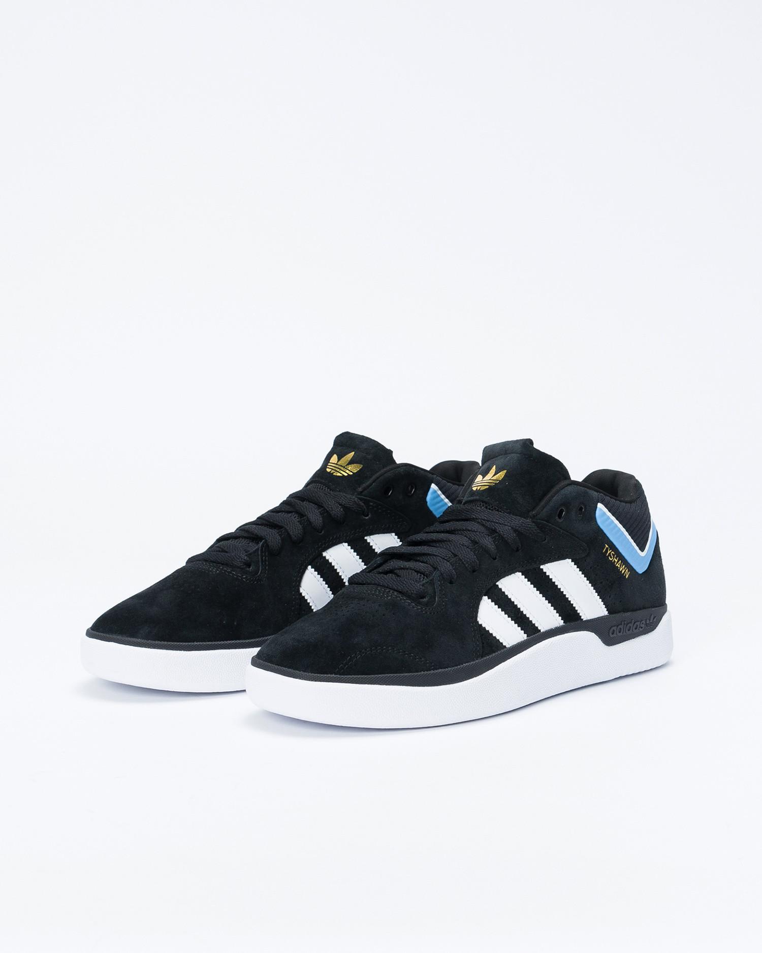 Adidas Tyshawn Core Black/Footwear White/Light Blue