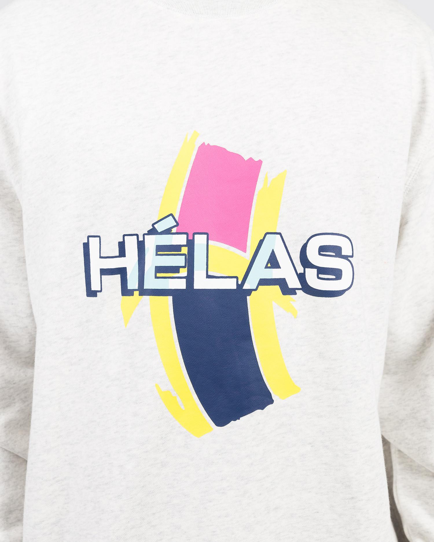Helas REAR CREWNECK HEATHER GREY