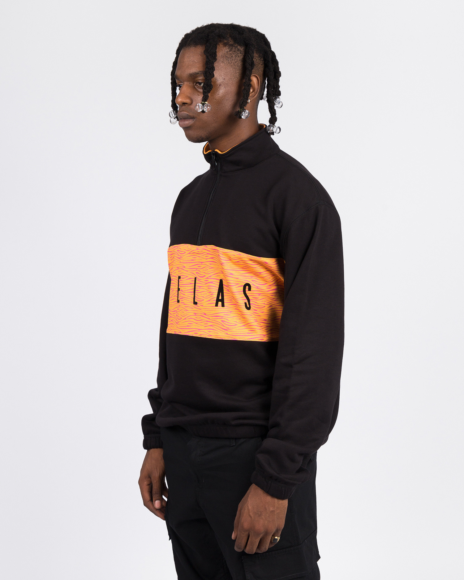 Helas JUNGLE QUARTER ZIP BLACK