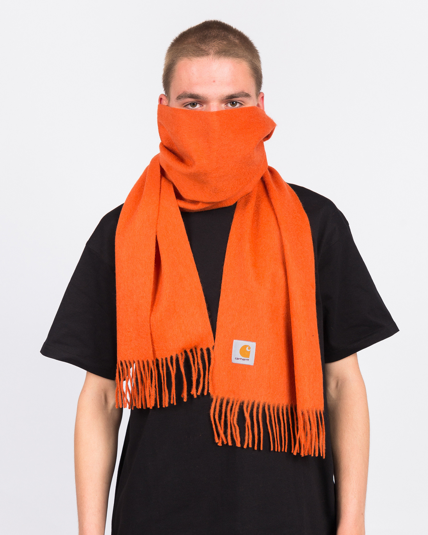 Carhartt Clan Scarf Brick Orange