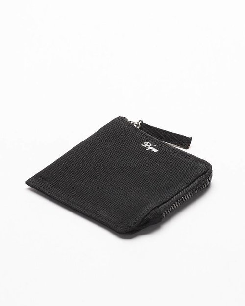 DQM DQM Zip Coated Canvas Wallet Black