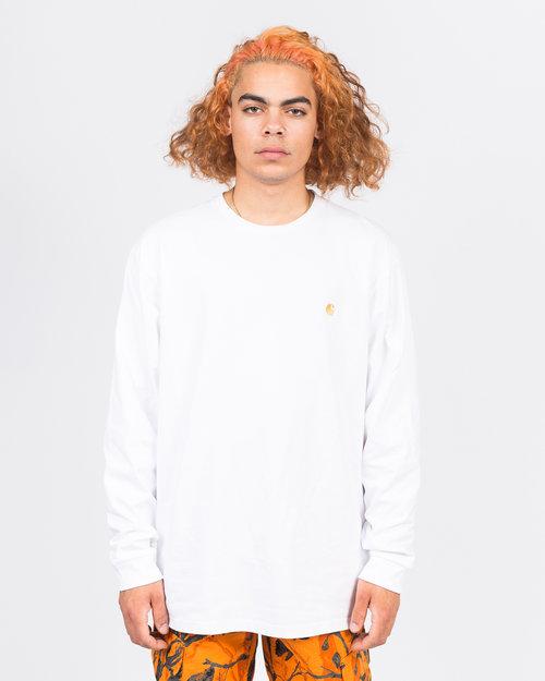 Carhartt Carhartt LS Chase T-Shirt white/gold