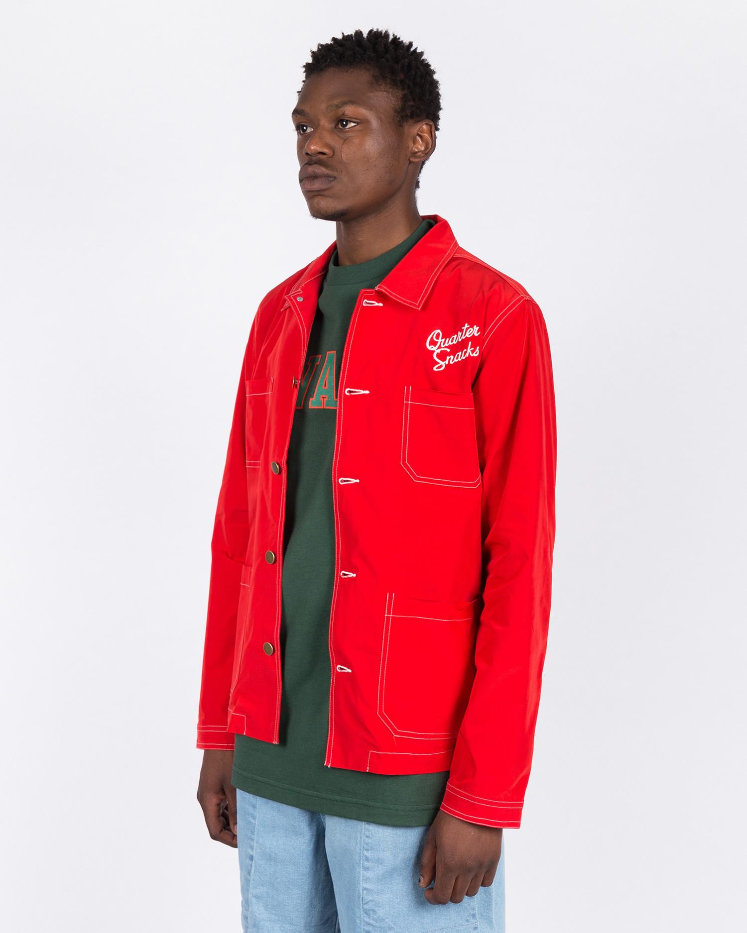 Quartersnacks Nylon Chore Jacket Red