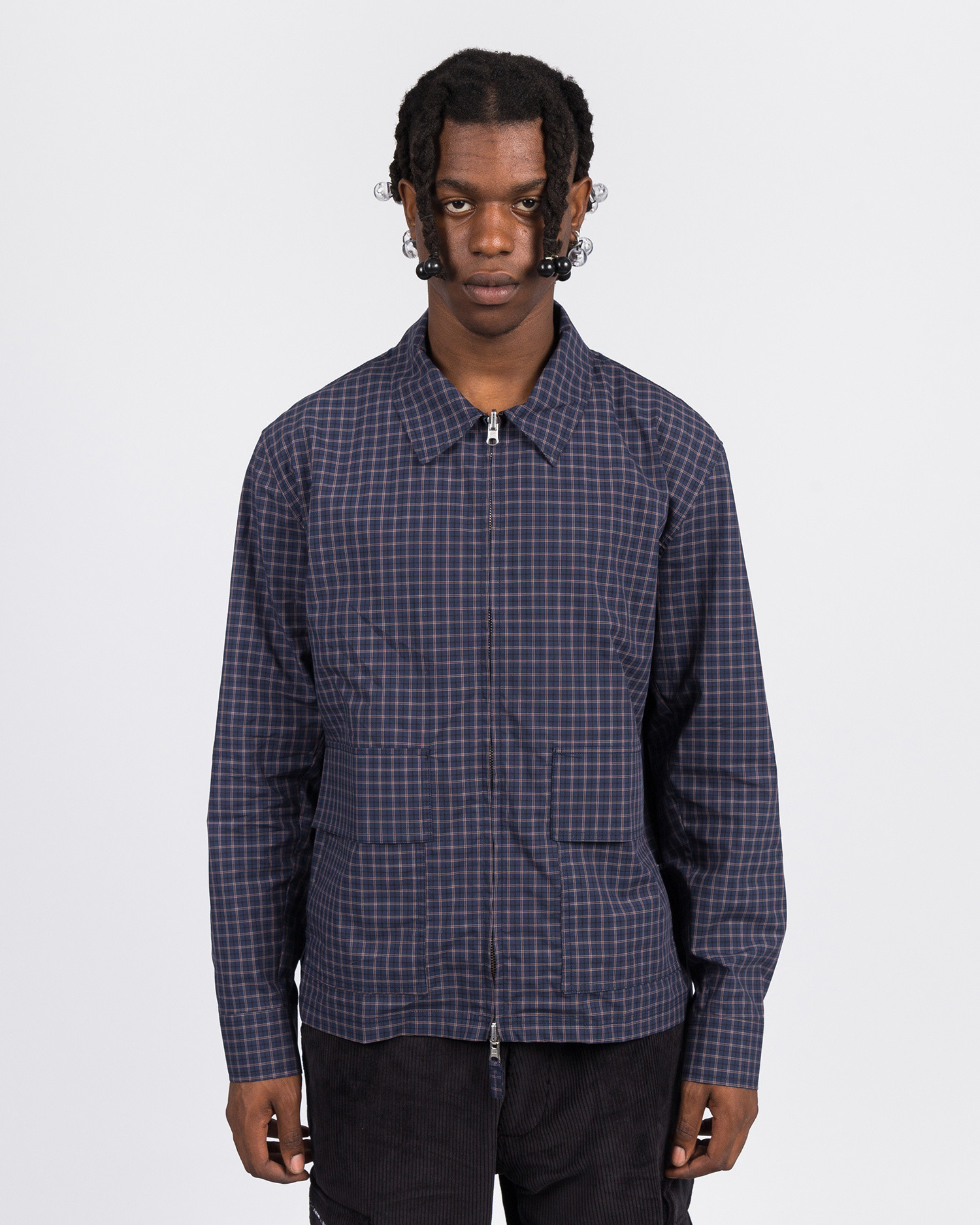 Pop Trading Co full-zip jacket check