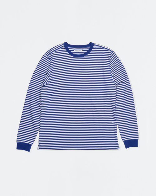 Pop Trading Co Pop Trading Co X Popeye striped longsleeve T-shirt royal/white