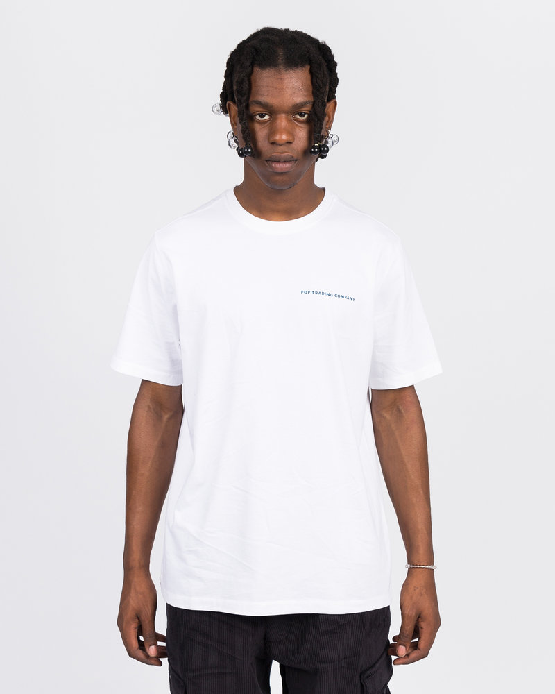 Pop Trading Co Pop Trading Co X parra t-shirt white
