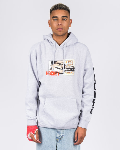 Hockey Hockey King Cut Hoodie Grey
