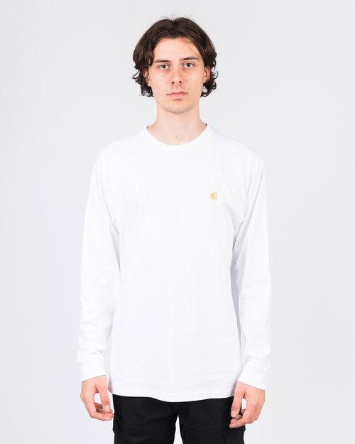 Carhartt Carhartt Chase Longsleeve Cotton White/Gold