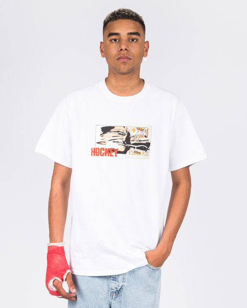Hockey Hockey Cut Tee White
