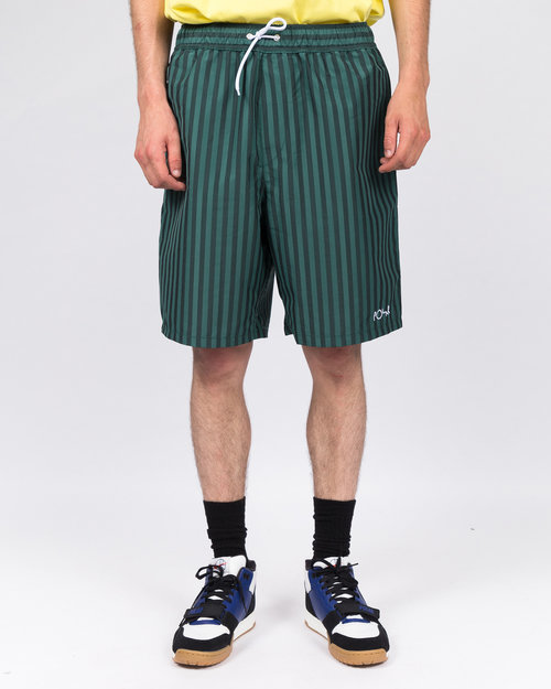 Polar Polar Stripe Swim Shorts Dark Green