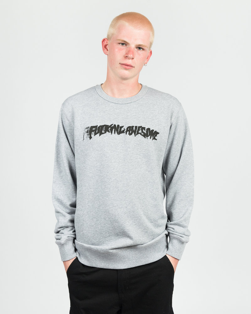 Fucking Awesome Fucking Awesome Stamp Crewneck Grey Heather
