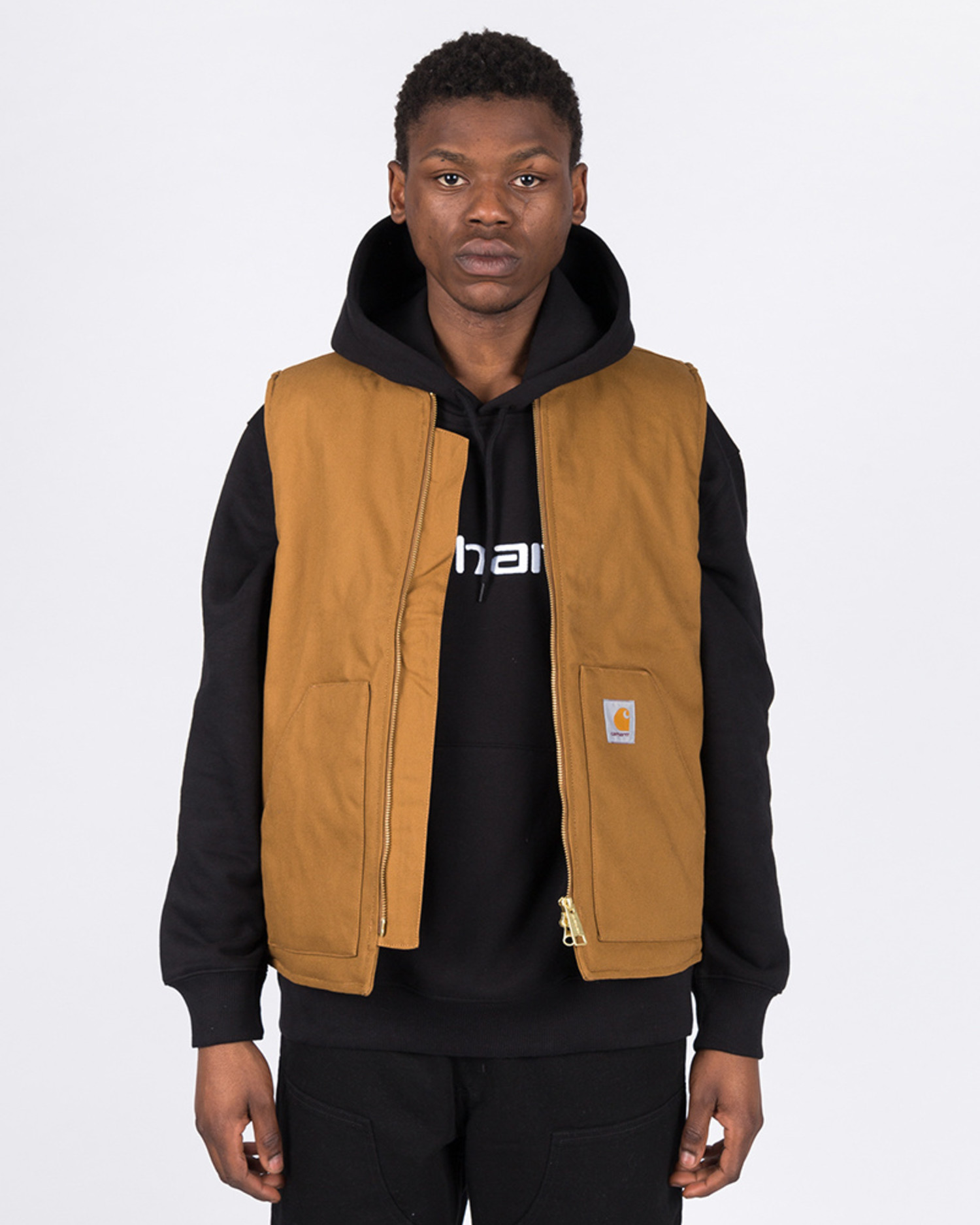 Carhartt Vest Cotton Hamilton Brown