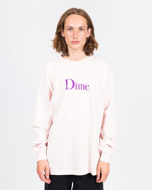Dime Dime Classic Logo Longsleeve T-shirt Light Pink