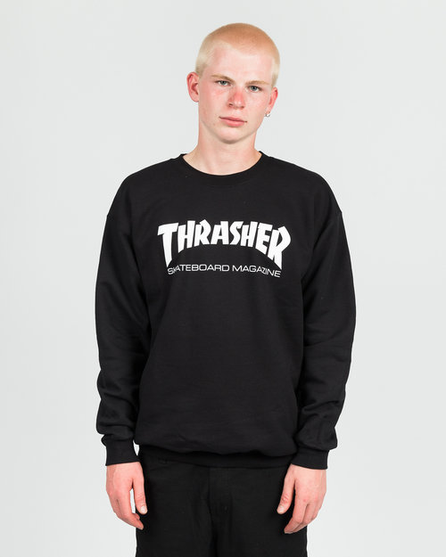 Thrasher Thrasher Skate Mag Crewneck Sweater Black