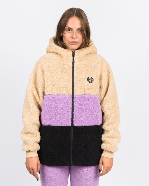 Alltimers Alltimers Cousins Hooded Top Tan/Purple/Black