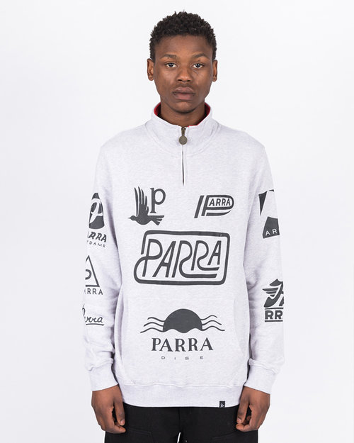 Parra Parra Sponsored Quarterzip Ash Gray