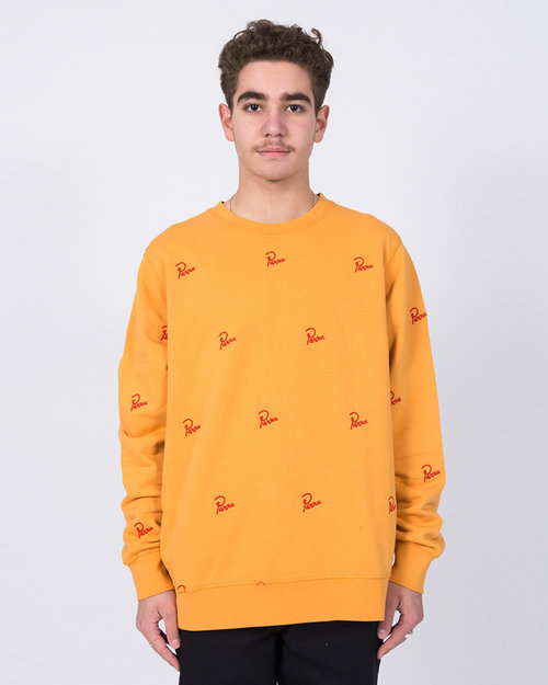 Parra Parra Signature Allover Crewneck Overdyed Gold Yellow