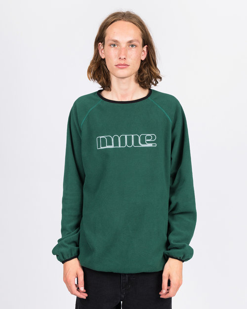 Dime Dime Raglan Polar Fleece Crewneck Forest Green