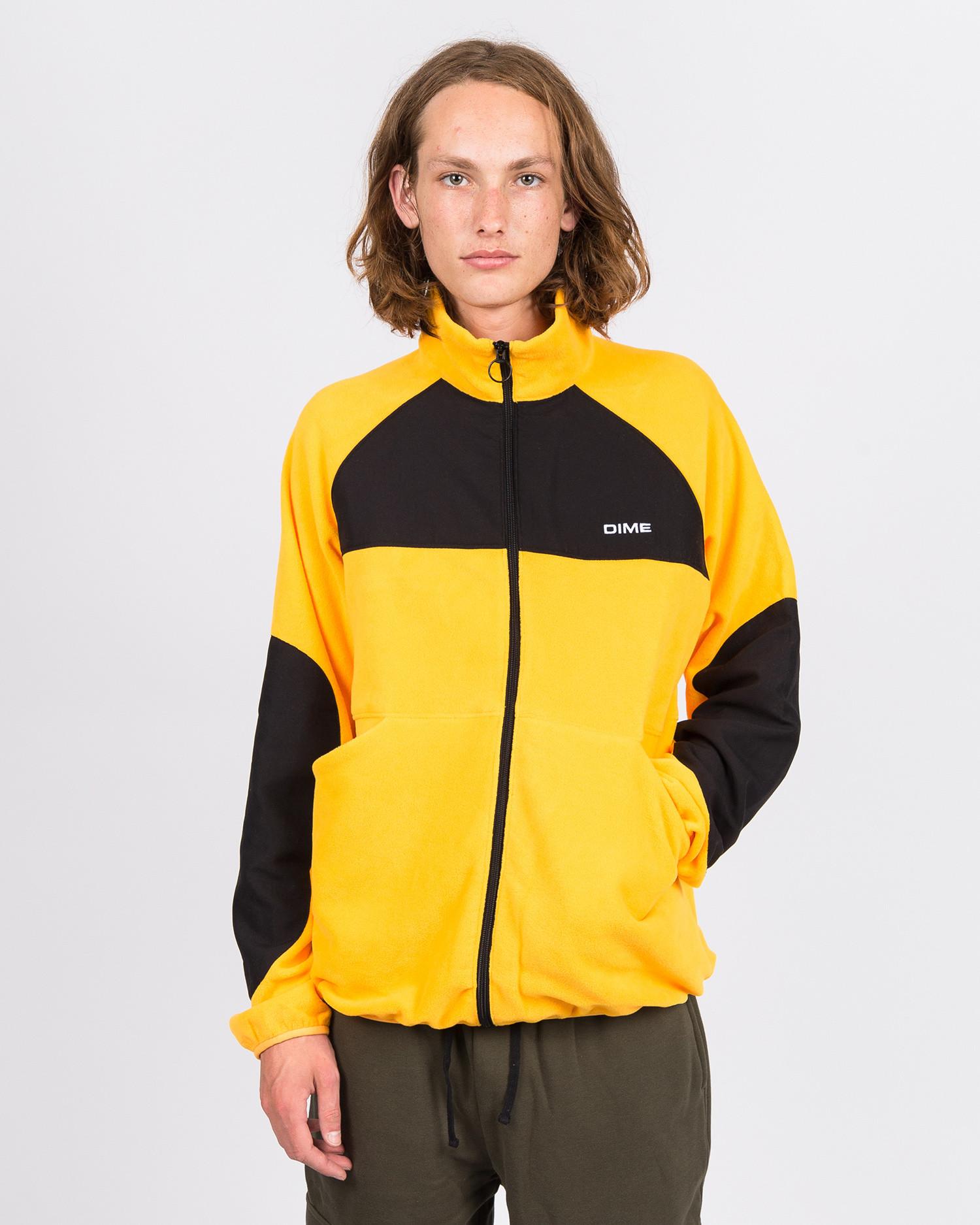 Dime Polar Fleece Track Jacket Gold/Black