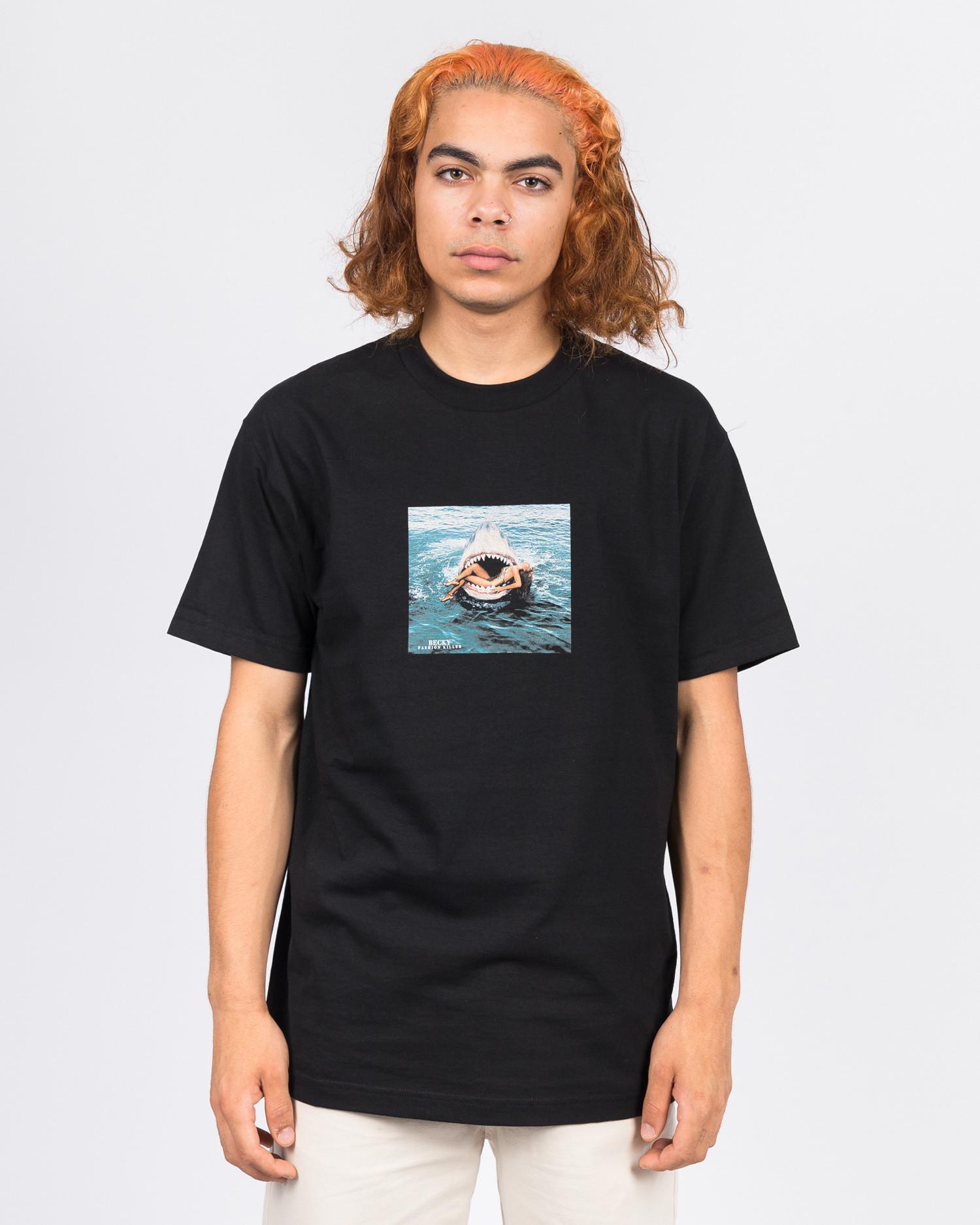 Becky Fashion Killer Shark T-Shirt Black