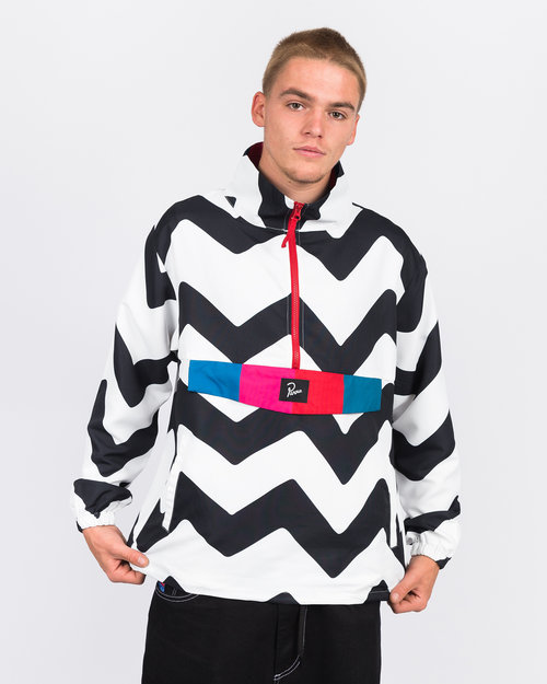 Parra Parra vase mountain stripes windbreaker black/white