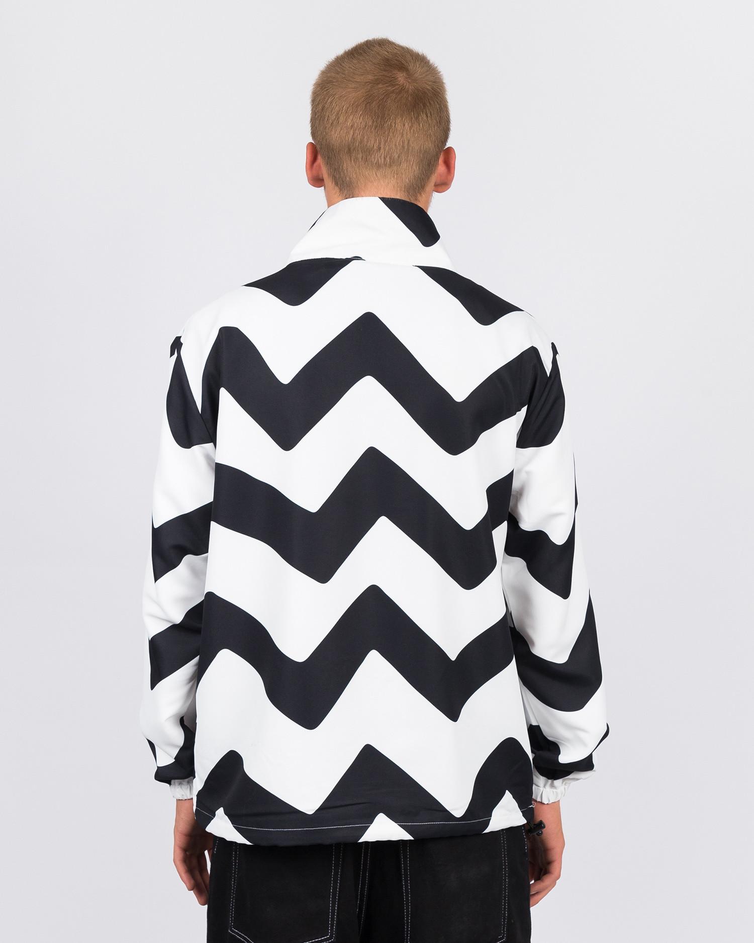 Parra vase mountain stripes windbreaker black/white