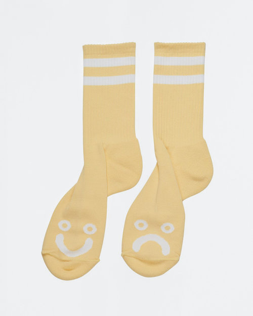 Polar Polar Happy Sad Socks Light Yellow