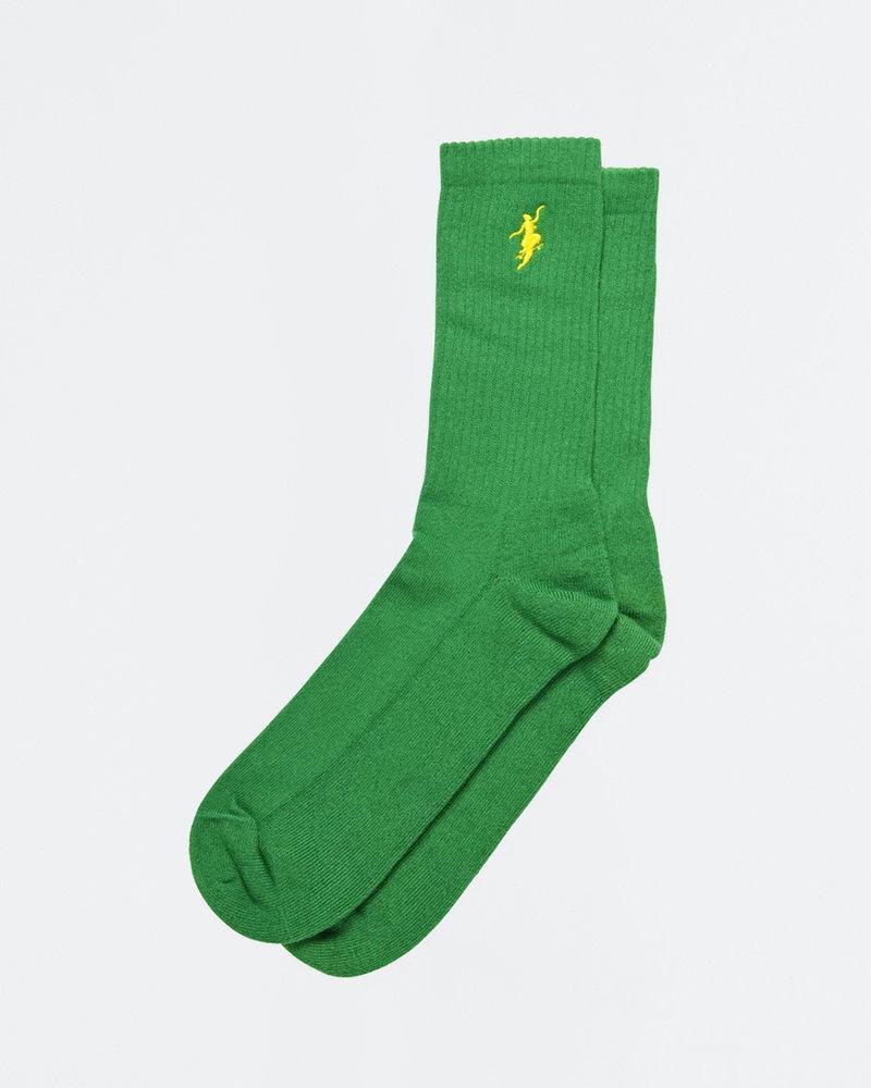 Polar Polar No Comply Socks Green/Yellow