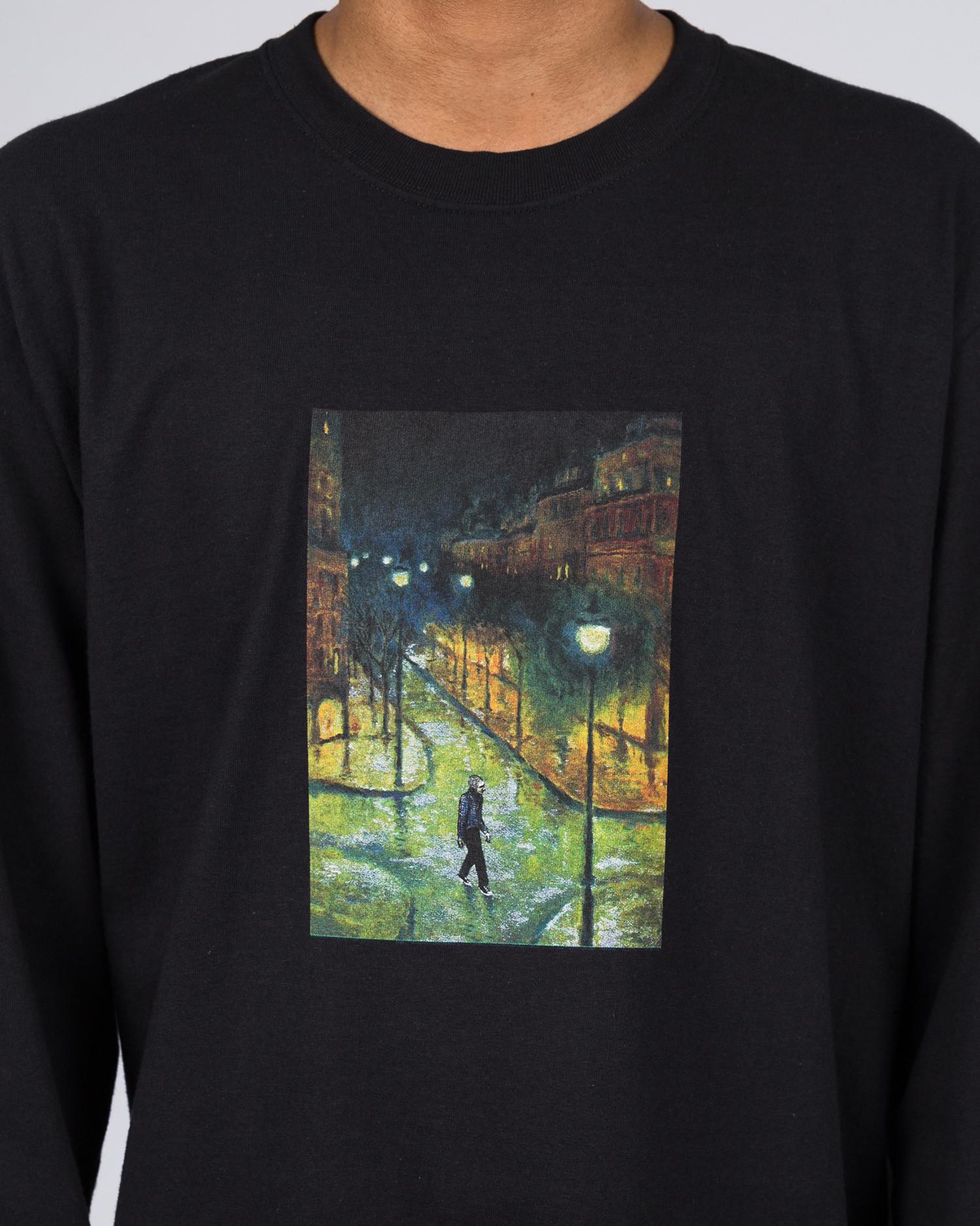 Hockey Evening Longsleeve T-Shirt Black