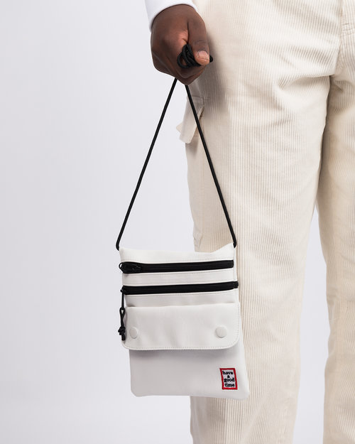 HAVE A GOOD TIME Have A Good Time Frame Leather Shoulder Bag White
