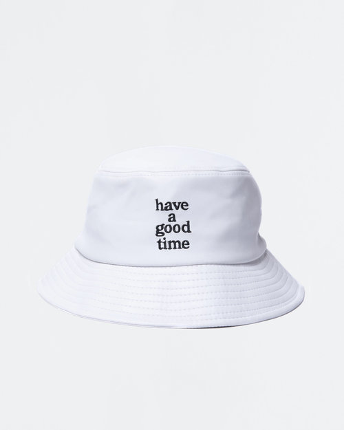HAVE A GOOD TIME Have A Good Time Vegan Leather Bucket Hat White