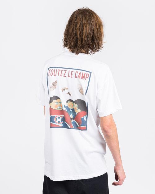 Poets Poets Foutez le Camp T-Shirt White