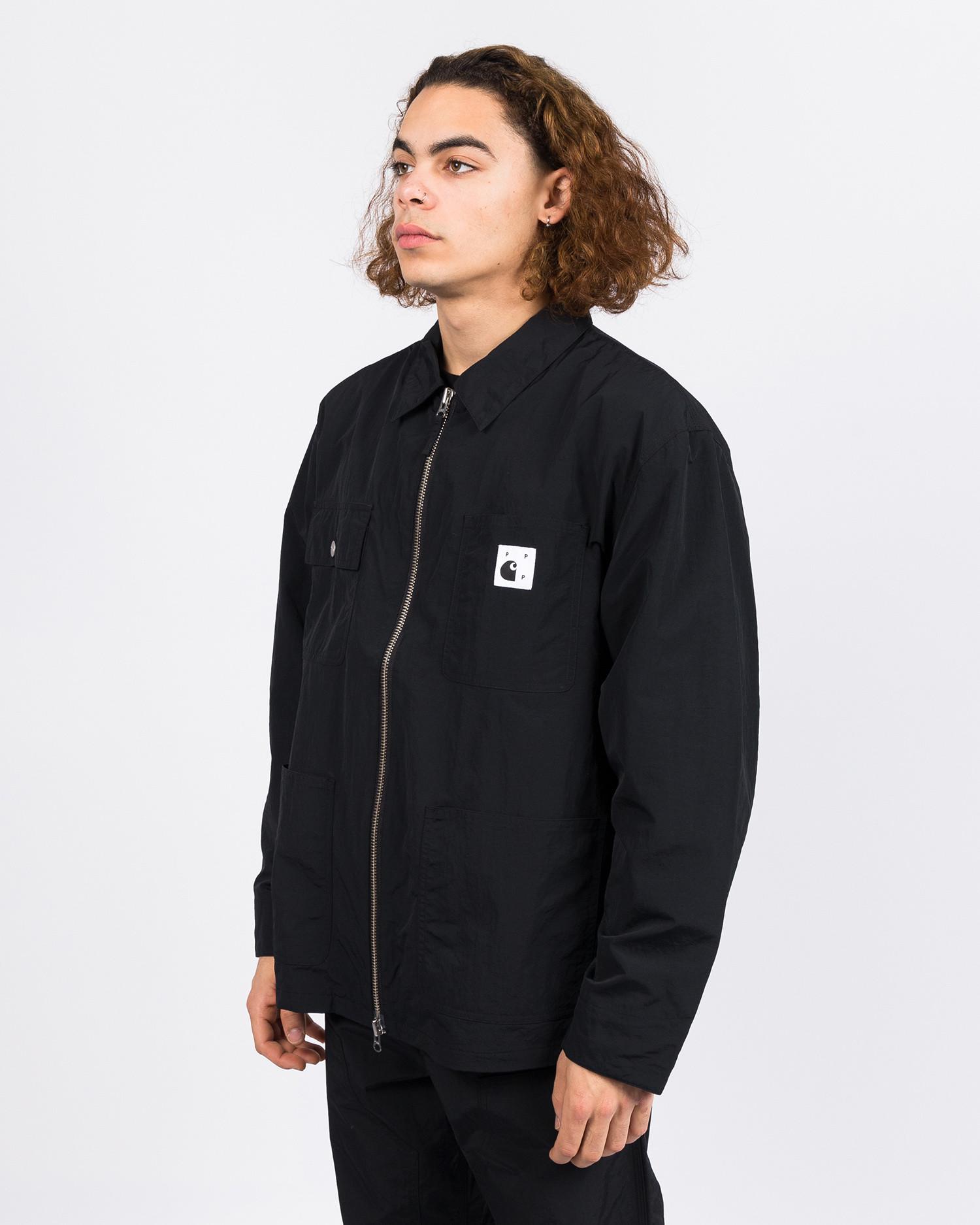 Carhartt x Pop Trading Co Michigan chore coat black