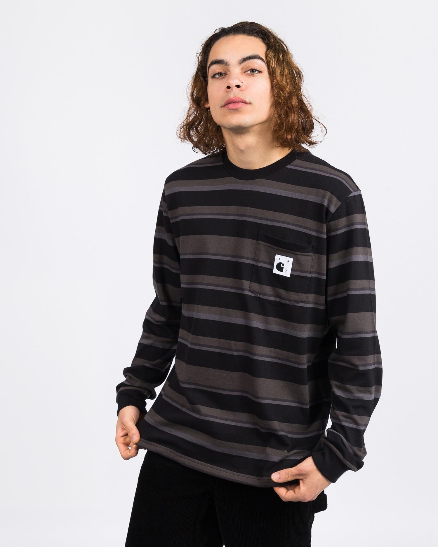 Carhartt x Pop Trading Co Longsleeve Pocket T-Shirt Black