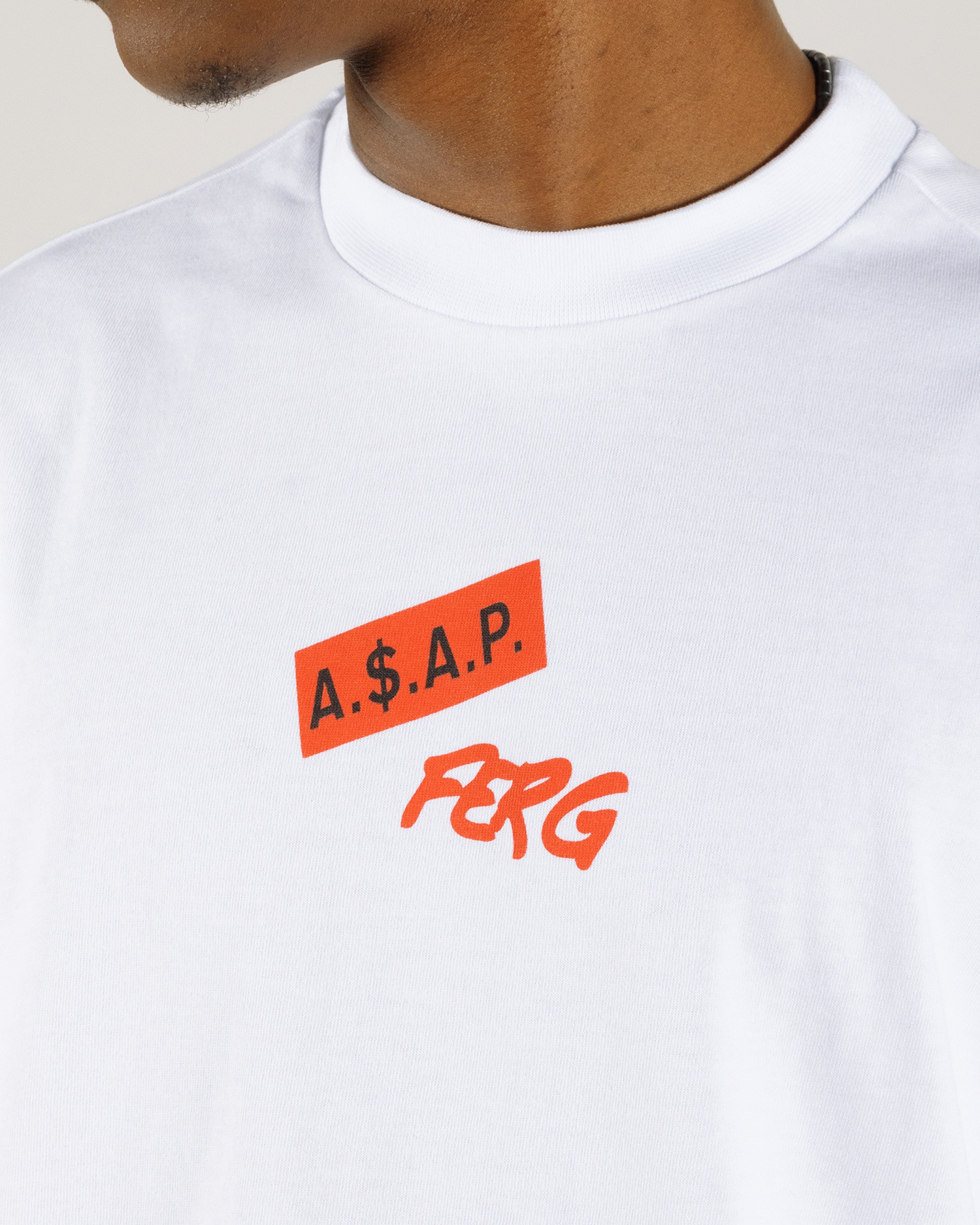 ASAP Ferg Written T-Shirt White