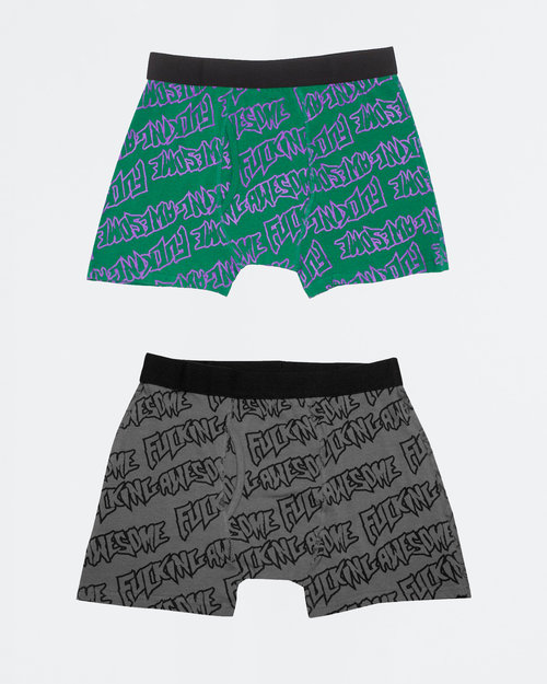 Fucking Awesome Fucking Awesome Boxer Briefs Purple Green/Black Grey L