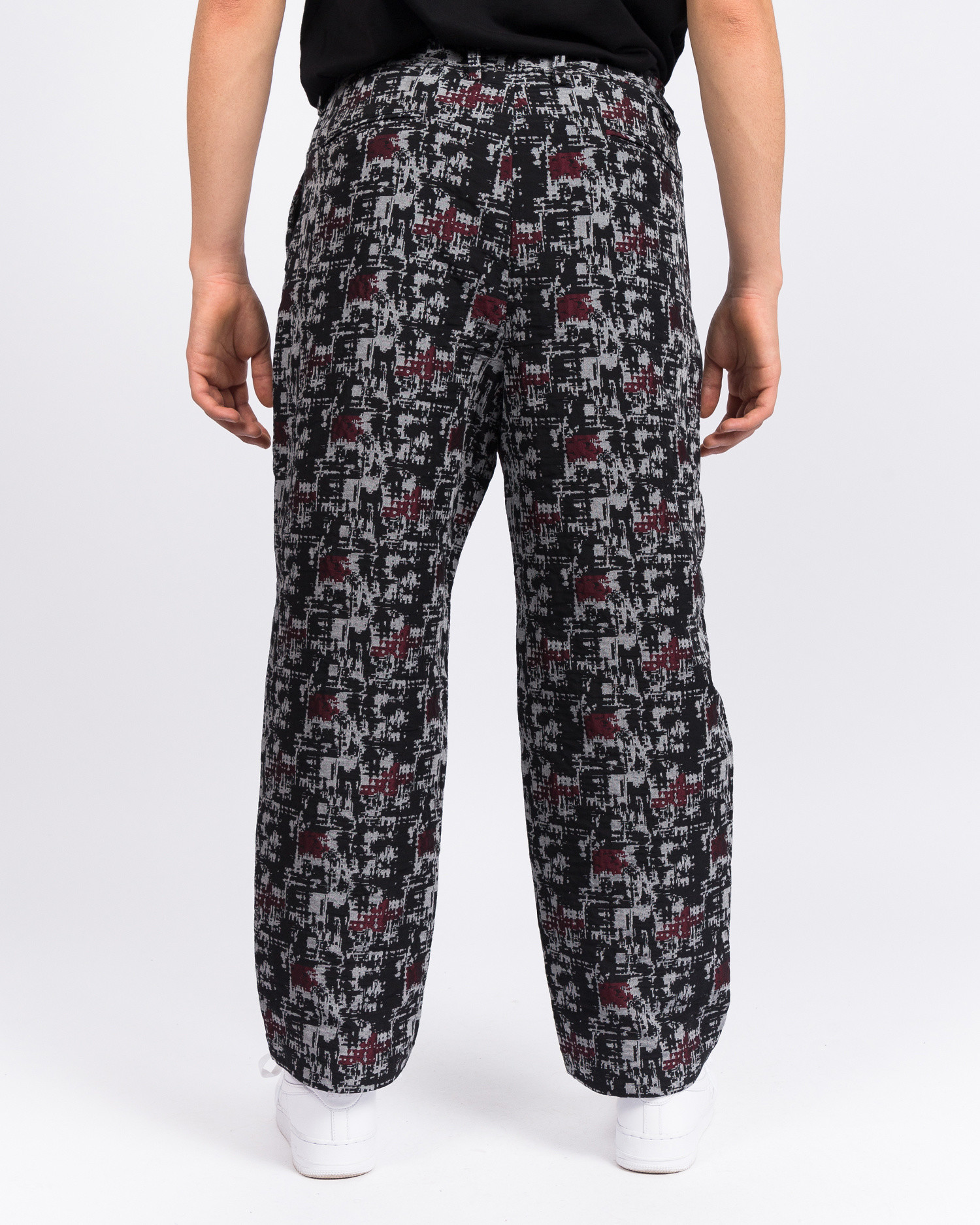 White Mountaineering Mosaic Jacquard 2 Tucked Wide Corduroy Pants