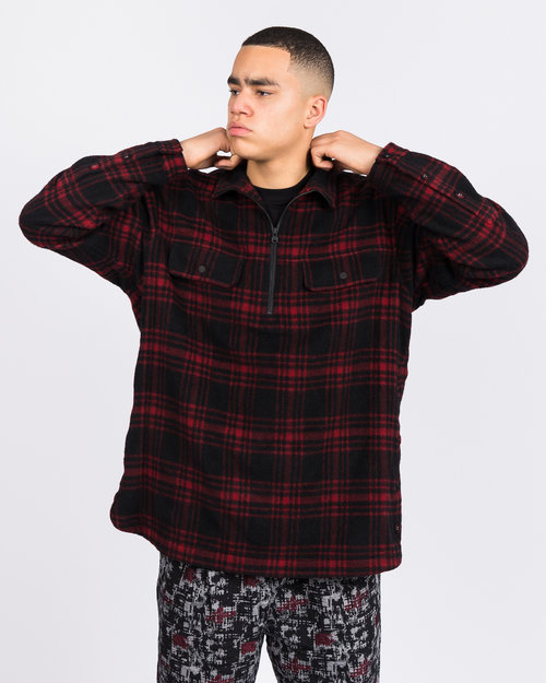 White Mountaineering White Mountaineering Check Shaggy Big Pullover Shirt