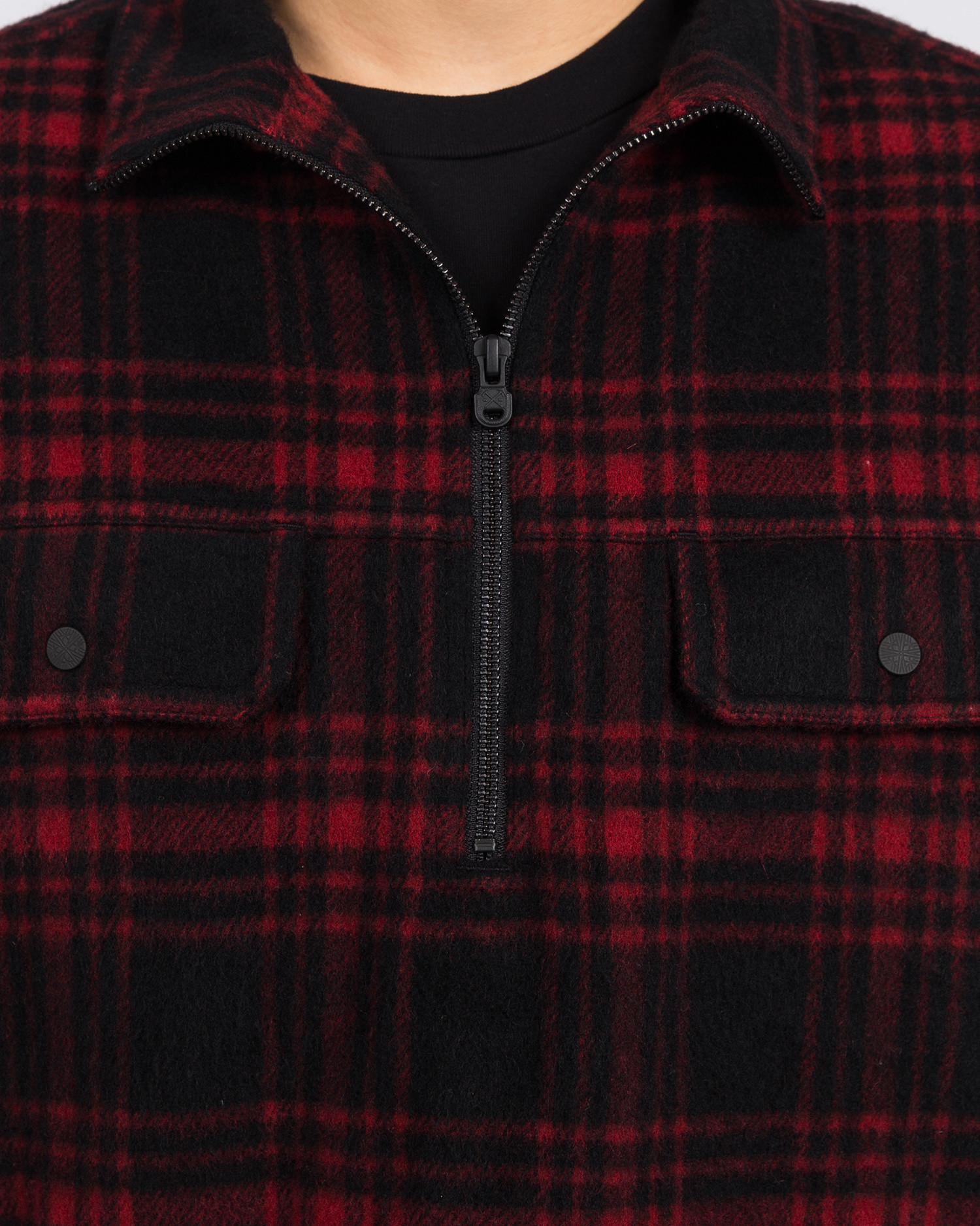 White Mountaineering Check Shaggy Big Pullover Shirt