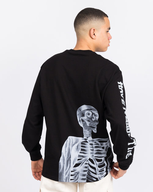 HAVE A GOOD TIME Have A Good Time Bone Longsleeve Black