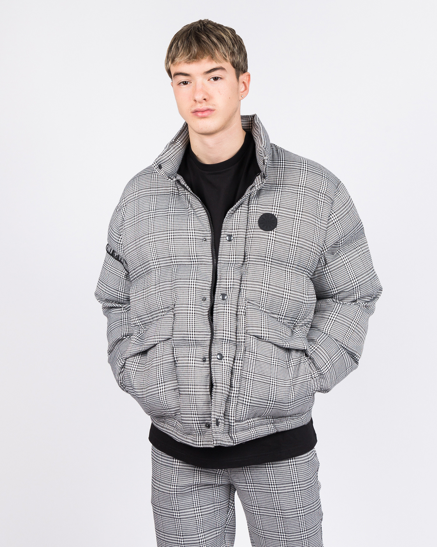 Fucking Awesome World Entertainment Puffer Glen Plaid