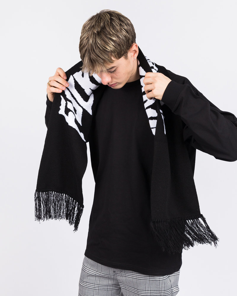 Fucking Awesome Fucking Awesome Scarf With Fringe Black
