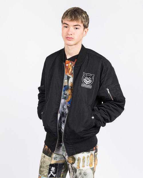 Fucking Awesome Fucking Awesome Reversible Nylon Bomber Jet Black/Collage Art