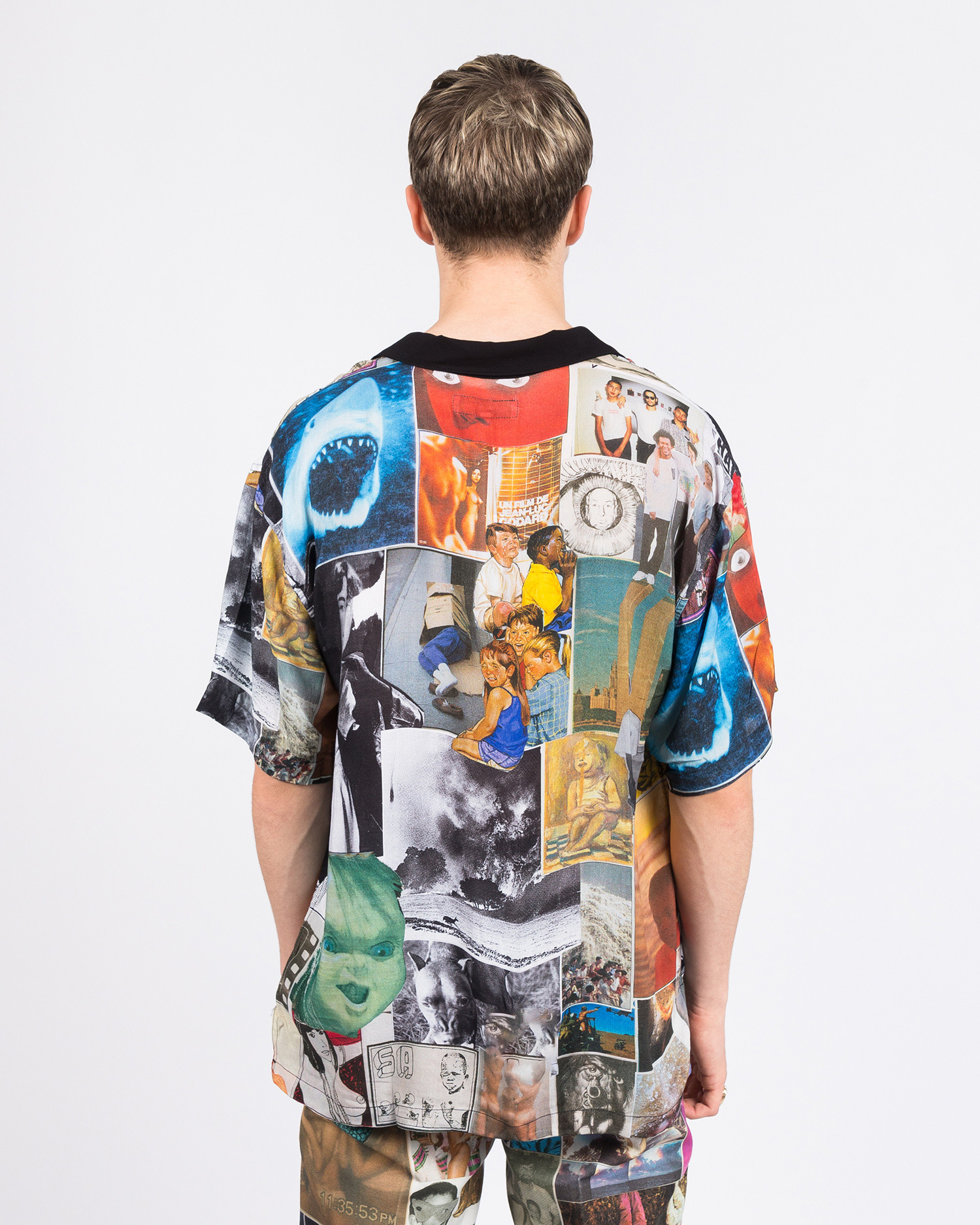 Fucking Awesome Collage 2 Rayon Club Shirt Black/White