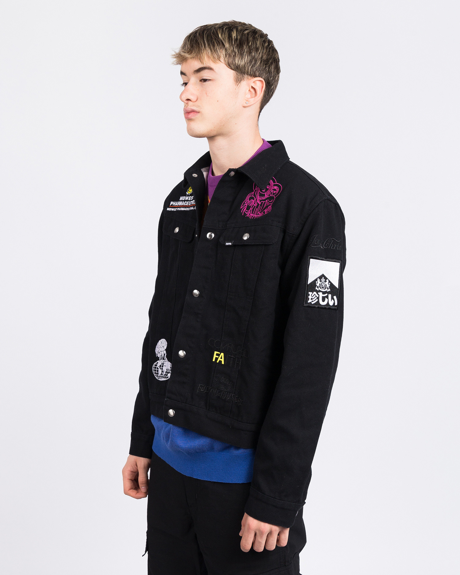 Fucking Awesome Sponsored FA Rodeo Jacket Black With Yellow Interior