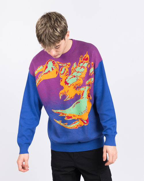 Fucking Awesome Fucking Awesome Scorpion Knit Sweater Purple